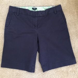 J Crew navy city fit Bermuda shorts
